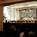 large concert hall with moderated audio experience