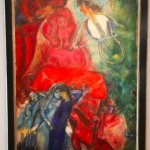 Chagall arranged his art in the musee.
