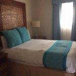 Queen bed in one bedroom unit