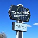 Street sign, Tamarisk Restaurant, Green River, UT
