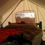 Safari tent with king bed