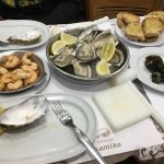Cervejaria Ramiro - some of the delicious seafood we ordered