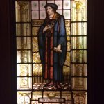 Bailey's: St. Thomas More in front of the Confessional. Yes... Confessional.