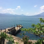 View of Lake Atitlan from the hotel grounds