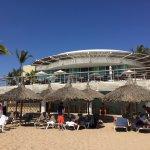 From the beach, Vida Vacations above the beach Bar