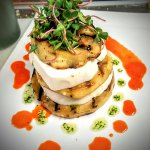 eggplant and mozz tower