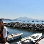 Naples with Mt Vesuvius at the background.