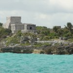 Tulum ruins from the sea.