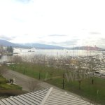 View towards Coal Harbour from a 4th floor room