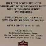 Royal Scot Hotel & Suites, Victoria policy