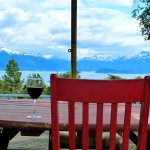 Life is good with a glass of wine at Halcyon Heights'  sunny deck