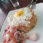 They called this Nasi Goreng. Not tasty at all.