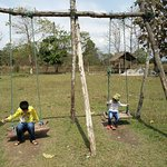 Swing for kids in open spaces