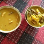 Daal and fish curry made with Elephant Apple flavouring