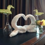 Roy made sure we enjoyed our stay, & made us swan-shaped apples & towels!! Thank you Roy xx