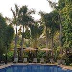 piscine très propre et calme