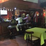 Inside Bar with sports on the TV