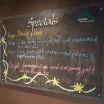 Specials menu (Monday)