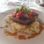 250g Scotch fillet served with crushed potatoes & pepperonata