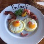 Personalised breakfast plate