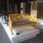 Furniture saved from Mackintosh school of art located on the tour given by students in the visit