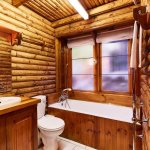 Typical chalet bathroom