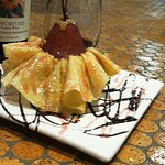 From the archives -Poached pear in a crepe tutu