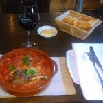 A simple Cassoulet and a glass of red Bordeaux