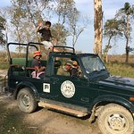 Our safari vehicle for 5 days with naturalist Bablu in driver's seat