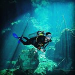 Cenotes dive with Klaus