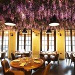 Victors under the wisteria