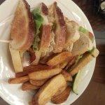 Caretta on the Gulf Room Service - Caretta Club Sandwich w/Fries