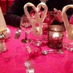Notre table joliement dréssée