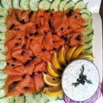 Smoked Salmon with Dill Cream Cheese + Cucumber