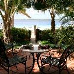 Beachfront suite patio