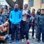 The Old Town tour visited the smallest sculpture in the city