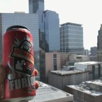 A Minnesota beer (Surly) with a beautiful view of DT Minneapolis from the 19th floor!