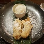 dessert at Siam - deep fried banana and ice cream! Heavenly!