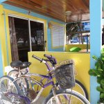 Entrance to lower beach-front suite with complimentary bikes