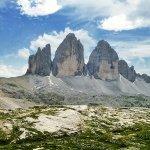 Le Tre Cime vista dal Rifugio Locatelli e Innerkofler