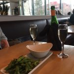 Edamame and Champagne....YES please!!