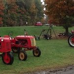 Old Farm Tractors and Bus Parking Area