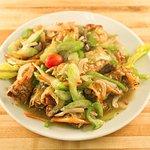 Bean Curd Skin Rolls with Chinese Mushroom Sauce - Vegetarian