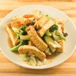 Braised Tofu with Assorted vegetables and Chinese Mushroom - Vegetarian