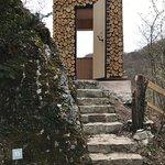 Ermitage Holztüre mit Aussicht