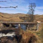 Photo de Bracklinn Falls Bridge and Callander Crags