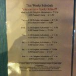 Their schedule