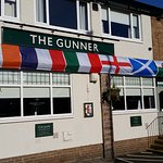 Outside the front of The Gunner ahead of the 6 Nations Rugby