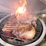 Big Green Egg Cooked Steaks