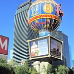 The balloon at the Paris Hotel in Vegas